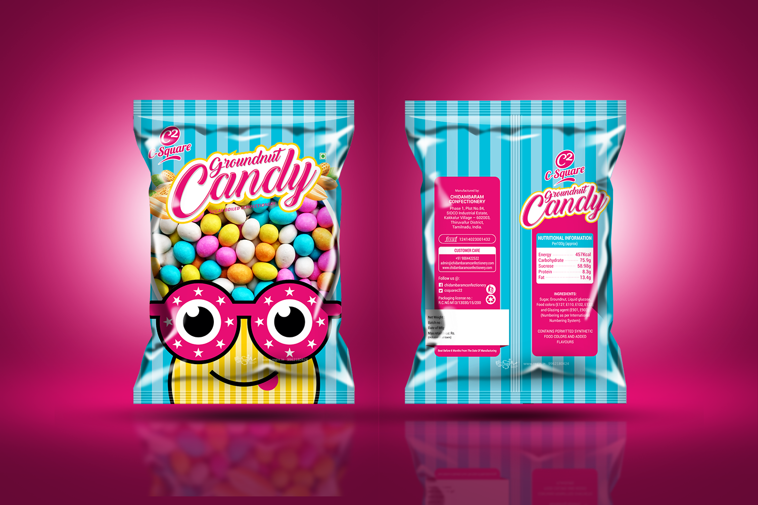 C-Square Groundnut Candy Packaging Design | Regin.in