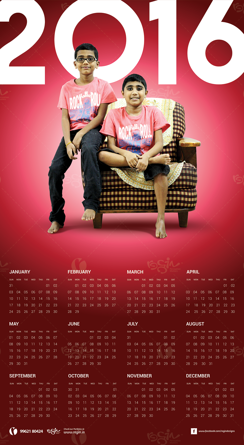 "My Neighbours 2016 Calender Design ""Deepan Family"""
