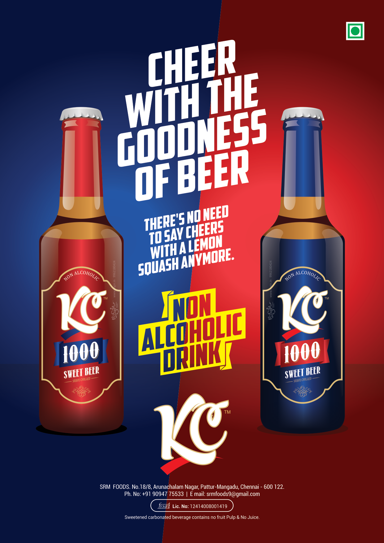 KC 1000 Sweet Beer Poster Design