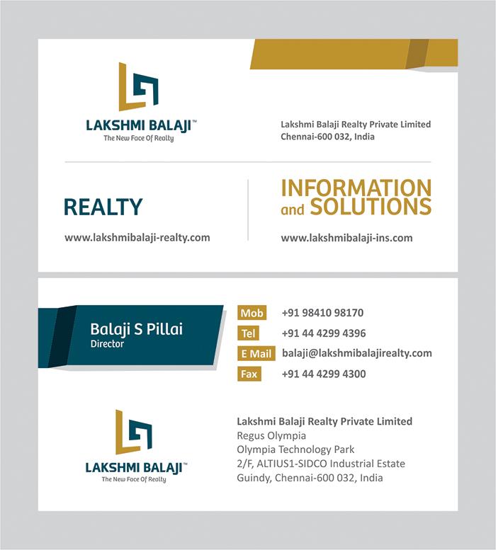 Lakshmi balaji company id card and visiting card design regin lakshmi balaji company id card and visiting card design reheart Image collections
