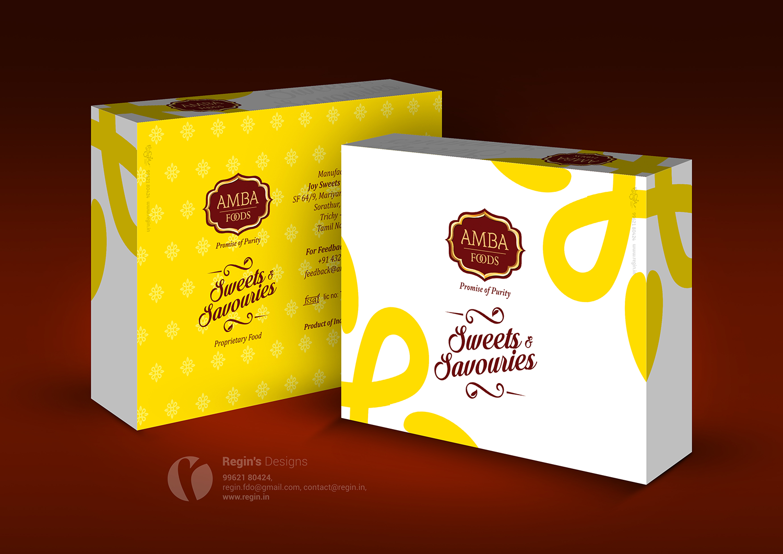 Amba Foods Sweet Box Design Regin In