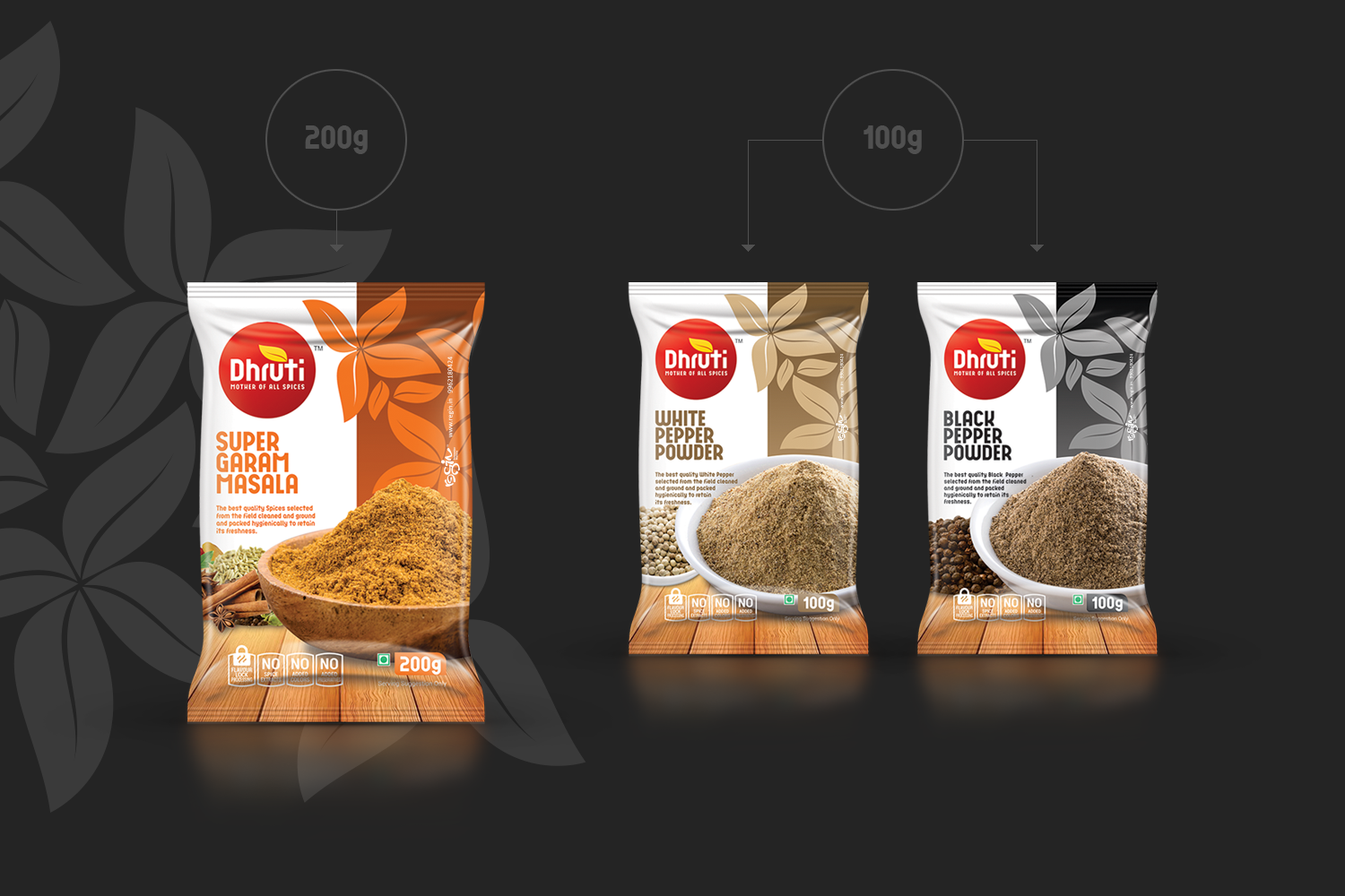 Best Spices Packaging Design