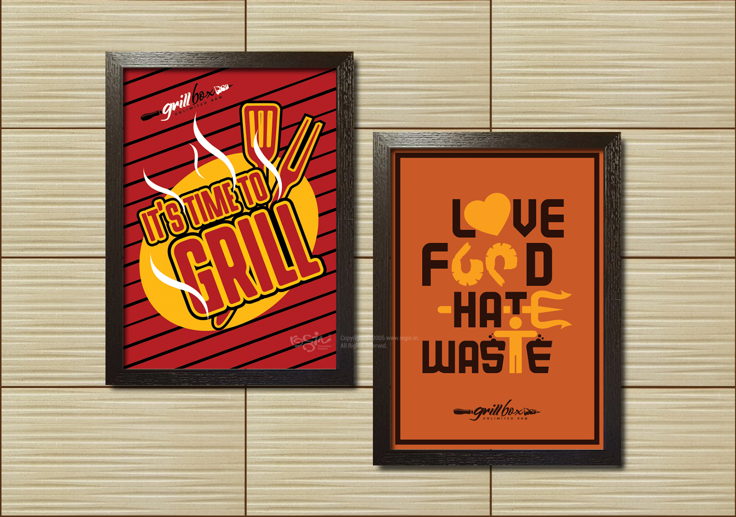 Grill Box quote posters