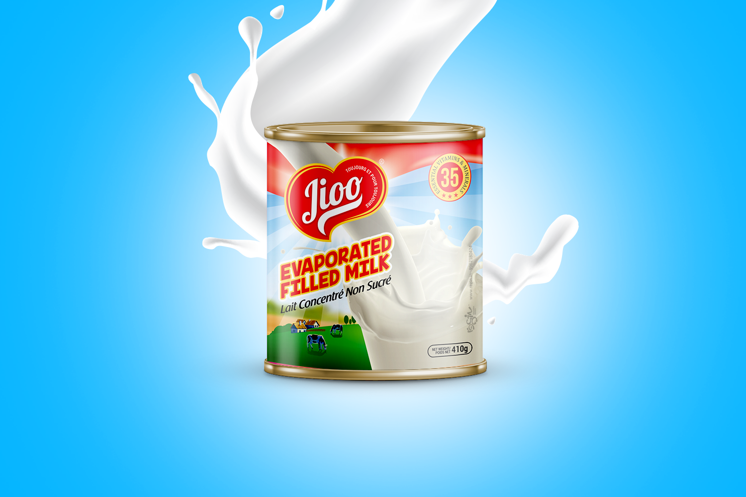 Jioo Evaporated Filled Milk