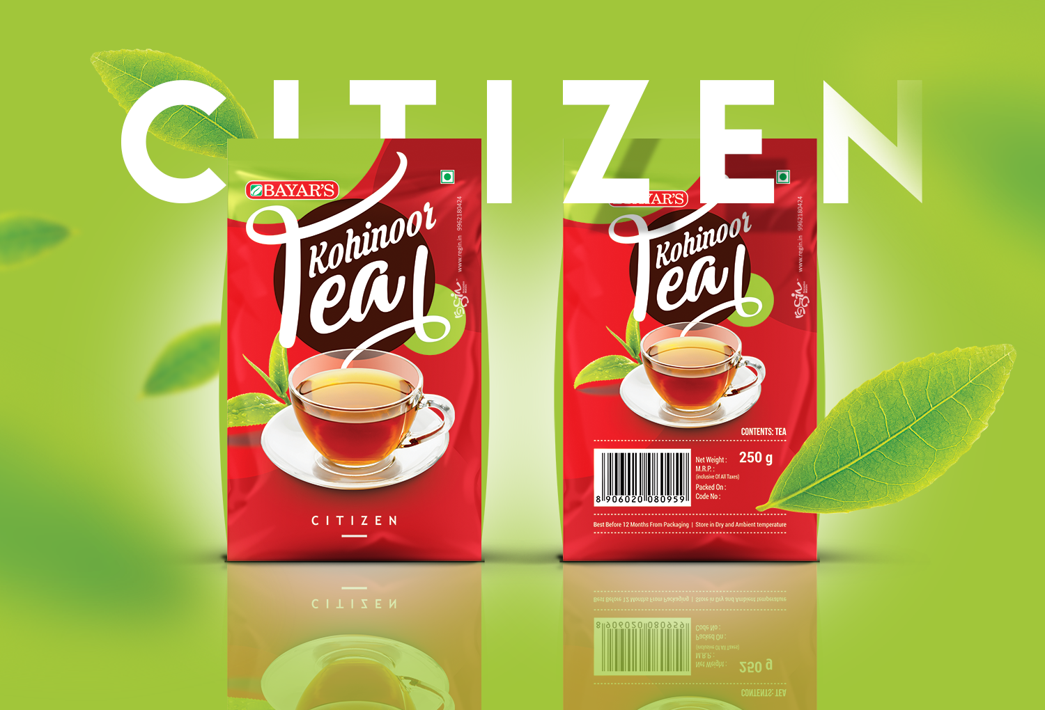 kohinoor tea packaging design regin in