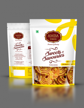 Amba Foods Sweets And Savouries Packaging Design Reginin