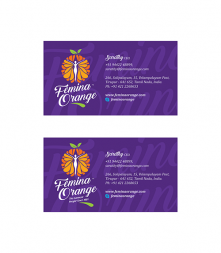 Femina Orange Visiting Card Design