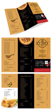 Take Away Menu Card