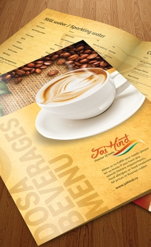 Jai Hind Menu Card Design