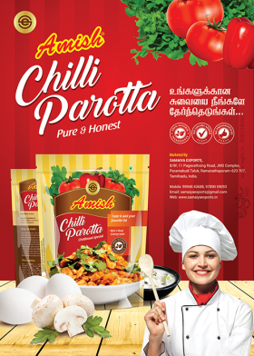 Amish Chilli parotta promotional Poster