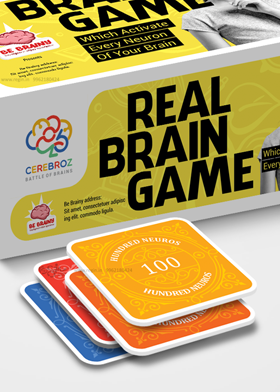 Be Brainy Cerebroz Board game design