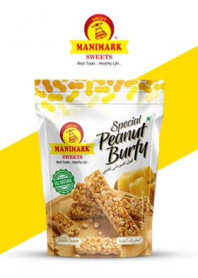 Manimark Sweets - Peanut Burfy - Standup Pouch