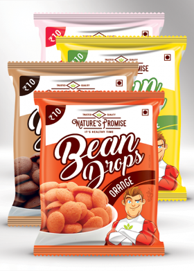 Nature's Promise bean Drops packaging design