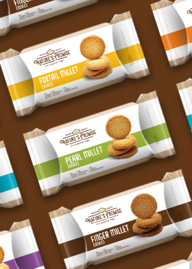 Nature's Promise Millet Cookies packaging design