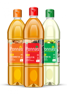 Ponnas Oil Bottle Wrapper design