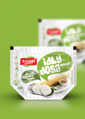 Suvai Idly dosa batter packaging Design